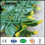 Parede artificial revestida por atacado da planta do PVC de China para o jardim Home