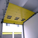 Großes externes Polyurethan-Schaumgummi-Panel-industrielle Schnitttür (HF-012)