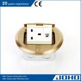 Латунно хлопните вверх тип электрическая коробка данным по пола с гнездом 13A Великобритании