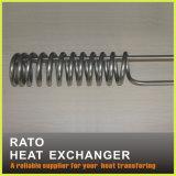 Câmara de ar da espiral do aço inoxidável para o cambista de calor