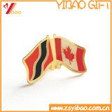 Горячие продавая значки металла флага эмали изготовленный на заказ логоса мягкие/штыри отворотом