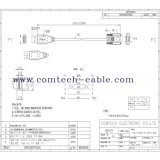 dB 9p Female al USB l'A/M Cable