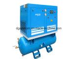 Beweglicher elektrischer stationärer Tank eingehangener Schrauben-Luftverdichter (K5-13D/250)