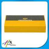Rectángulo de empaquetado pintado amarillo especial del cigarro del Humidor del cedro del diseño