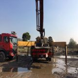 pompe concrète utilisée éloignée de 37m Putzmeister avec le camion (45m /46m)
