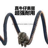Qualitäts-AluminiumBlue Jeans-Denim5 Pin Mikro-USB-Ladung und Synchronisierungs-Kabel