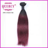 Armure rouge de cheveux humains de la tonalité 1B Braziian de la couleur deux d'Omber directement