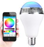 Il APP gestisce il mini altoparlante senza fili di Bluetooth della lampadina astuta