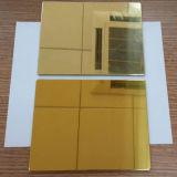 Painel composto de alumínio do espelho do ouro