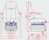 가득 차있는 조정가능한 유압 현탁액 버스 운전사 시트 (YS15)