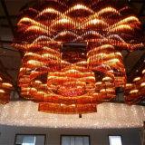 Hotel-Vorhalle-dekoratives Champaign Goldrunder Kristallleuchter