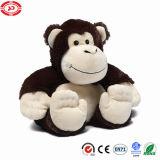 Jouet gentil à croquer se reposant bourré par peluche molle pelucheuse enorme de qualité de singe