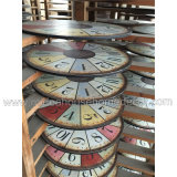 Horloge en bois promotionnelle de Customed, horloge antique en gros, horloges de tenture
