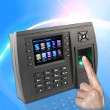 Sistema de atendimento ao tempo de impressão digital com leitor de cartão de identificação interno (TFT500 / ID)