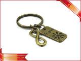 Förderndes Gewebe Keychain Metall Keychain ledernes Gummikeychain