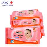 el bebé no tejido grueso 90PCS limpia a surtidor mojado de los trapos de las buenas ventas del mercado estupendo