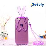 Netter reizender Kaninchen-Silikon-Häschen-Kasten-Deckel-Schoner für iPhone 6 4.7 Zoll