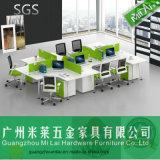 Sitio de trabajo moderno de la partición de los muebles de oficinas de 6 asientos con Ml-03-Udzb