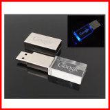 Metall-USB3.0 USB-grelles Platte LED Kristall-USB-Blitz-Laufwerk
