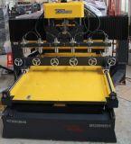 Máquina de gravura do CNC da alta qualidade com linha central giratória