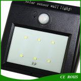 Lámpara de pared solar de PIR de los sonidos del sensor del uso al aire libre clásico del hogar con 6PCS alto LED brillante