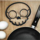 De grappige Milieuvriendelijke Schedel Gestalte gegeven Cirkel van de Omelet van het Ei van het Silicone Rubber