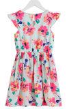 Vestido da menina de flor do algodão da forma no vestido das crianças com roupa das crianças