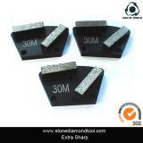 2 pontos que terminam segmentos do diamante do disco de moedura para o assoalho