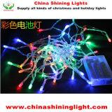luzes de Natal transparentes do diodo emissor de luz do fio do fio desobstruído a pilhas de 3m