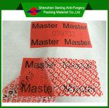 Contrassegno inalterabile adesivo della scatola con il marchio di Cutomised