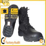 黒い本革のよい摩耗の軍隊のブートの軍の戦術的な戦闘用ブーツ