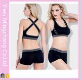 Positionnement femelle sans couture de sous-vêtements de yoga de nouveau de la vente 2016 dos chaud de croix