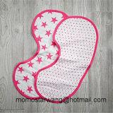 100%年の綿の綿モスリンの赤ん坊の胸当てのげっぷの布
