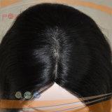 Peruca dianteira amarrada das mulheres do trabalho da parte superior da pele da base do laço do cabelo humano mão cheia