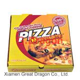 De witte Buiten en Natuurlijke/Doos van de Pizza van Kraftpapier Binnenlandse (PIZZ014)