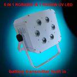 高い明るさ6X15W Rgabwの電池式の段階の照明