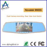 Auto, das hintere Ansicht-Spiegel-Kamera 4.5 Zoll-Doppelobjektiv-Kamera aufhebt