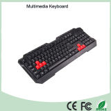 Laserdruck-wasserdichte Multimedia PC Tastatur (KB-1688-R)