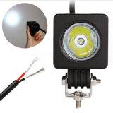 2 Zoll 10W CREE LED Quadrat-Flut-Punkt-Arbeits-Licht 12V 800lm wasserdicht für den Fahrrad-Motorrad-LKW 4X4 nicht für den Straßenverkehr
