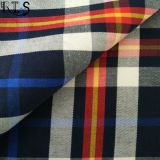 El hilado tejido 100% del popelín de algodón teñió la tela para las camisas/alineada Rls50-19po