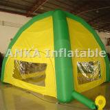 Exposición inflable Araña Tienda de la bóveda de la puerta hacia fuera