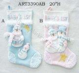 De Kous gift-3asst. van 1st Kerstmis van de Babys van de sneeuwman
