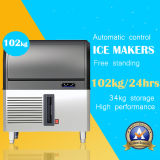 Autoportante Ice Maker en acier inoxydable 102kg (.)