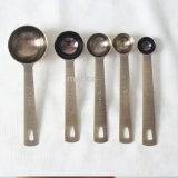 5PCS de vastgestelde Lepel van de Koffie van het Roestvrij staal