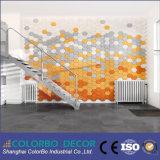 Papiers peints acoustiques de copeaux de bois de décoration de salle de conférence de conception intérieure