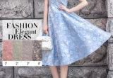 Nuovo tessuto del merletto del jacquard del poliestere di modo per il vestito