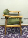 녹색 판매 (FOH-BCC33)를 위한 가죽에 의하여 덧대지는 목제 다방 의자