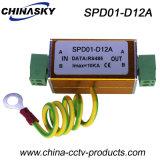 Protetor dos dispositivos de proteção do relâmpago RS485 do CCTV único (SPD01-D12A)