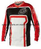 Красный выполненный на заказ мотоцикл Sportwear конструкции участвуя в гонке Джерси (MAT61)