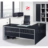 Top Black Classy Furniture Secretária executiva mesa MDF Office